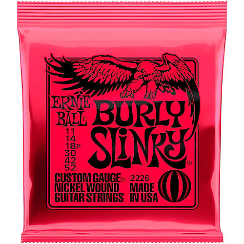Burly Slinky Nickel Wound Electric Guitar Strings (11-52)