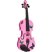 Open Box Rozanna's Violins Butterfly Dream Lavender Series Violin Outfit