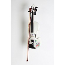 Open BoxRozanna's Violins Butterfly Dream White Glitter Series Violin Outfit