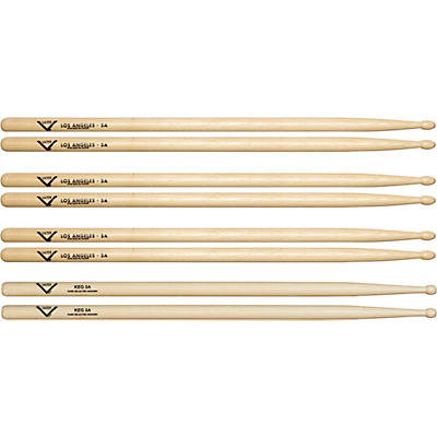 Vater Buy 3 5A Wood Drum Sticks Pairs, Get 1 Free KEG 5A Pair