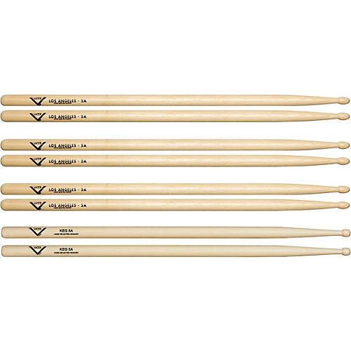 Vater Buy 3 5A Wood Drum Sticks Pairs, Get 1 Free KEG 5A Pair