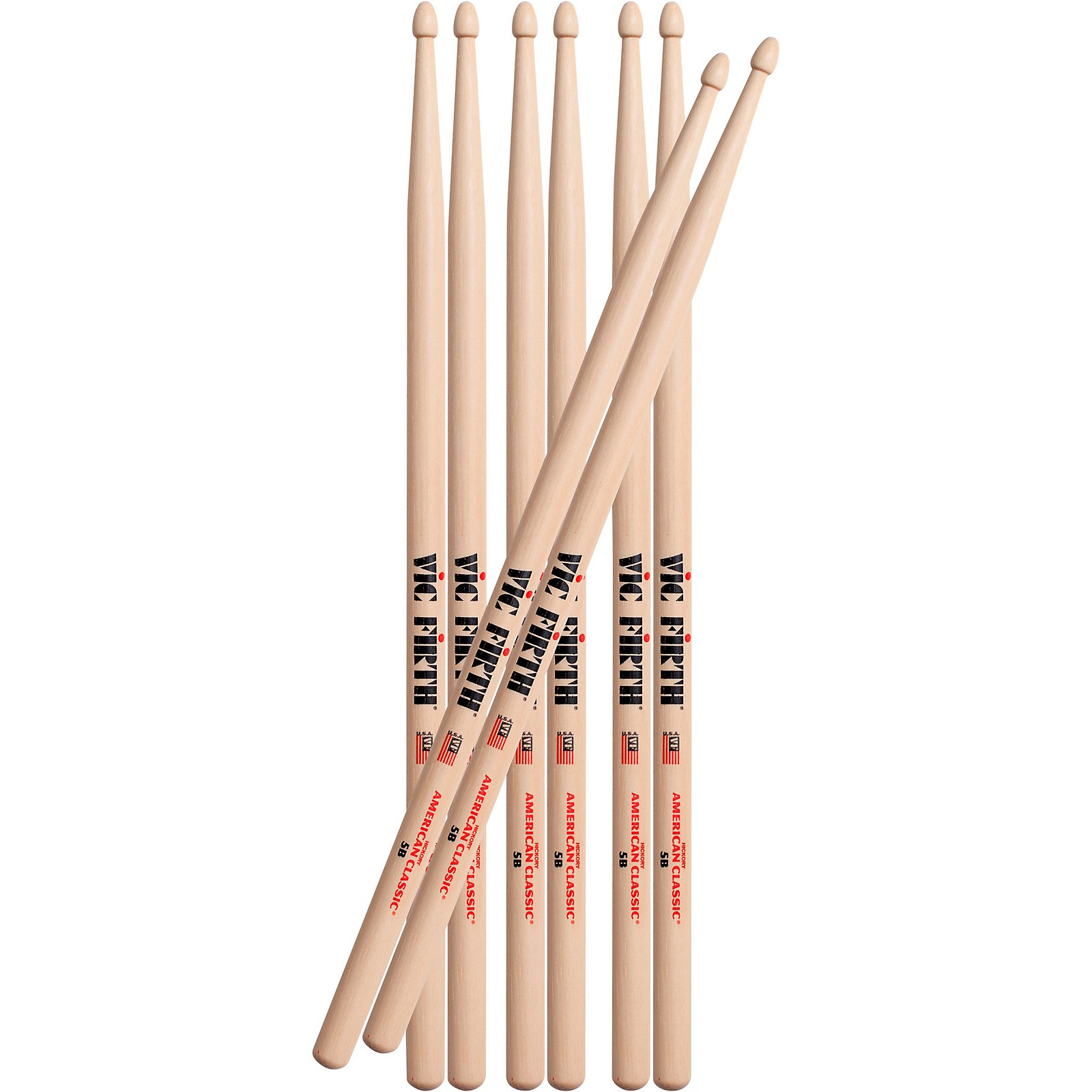 Vic Firth Buy 3 Pair of 5B Sticks, Get 1 Pair Free