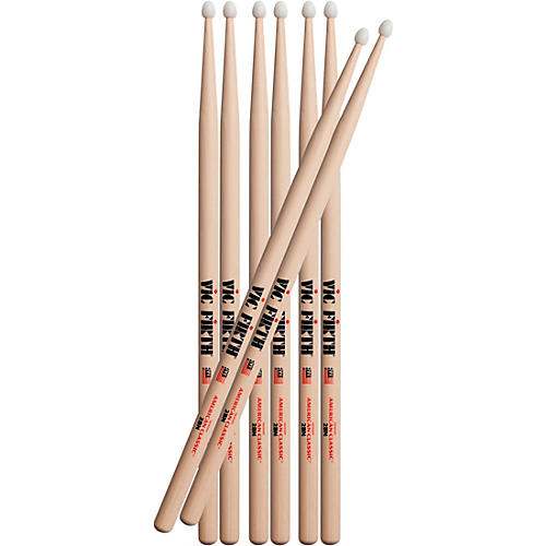Vic Firth Buy 3 Pairs of 2BN Drum Sticks, Get One Pair Free 2BN Nylon