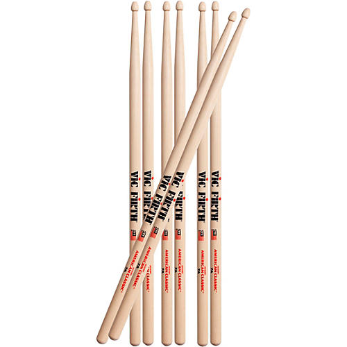 Vic Firth Buy 3 Pairs of 7A Drum Sticks, Get 1 Free