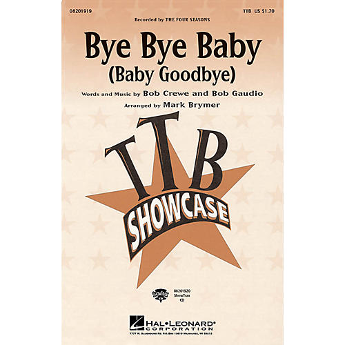 Hal Leonard Bye Bye Baby (Baby Goodbye) TBB by The Four Seasons