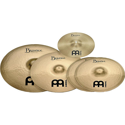 Meinl Byzance Brilliant 4-Piece Cymbal Pack with Free 10