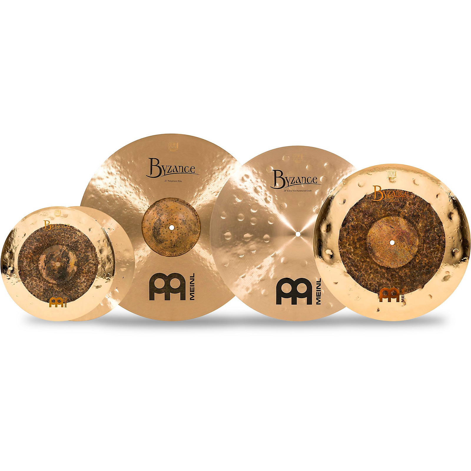 Meinl Byzance Studio Select Cymbal Set with Free 18 in. Dual Crash