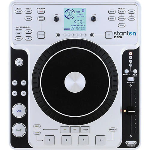 Stanton C.304 Tabletop CD Player with Touch Sensitive Wheel
