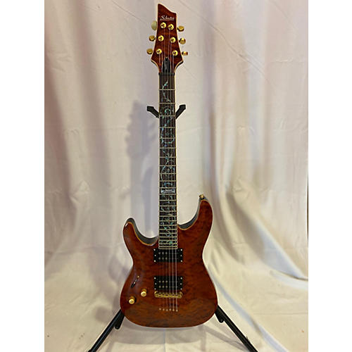 Schecter Guitar Research C1 Classic Left Handed Electric Guitar Amber