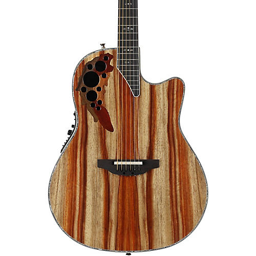ovation c2078axp sp exotic wood elite plus striped padauk acoustic electric guitar natural. Black Bedroom Furniture Sets. Home Design Ideas