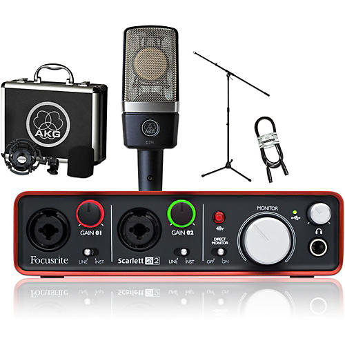 AKG C214 and Focusrite 2i2 Package