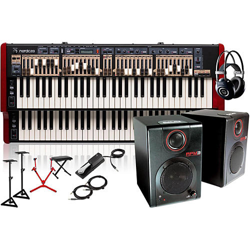 Nord C2D Combo Organ with Matching Stand, RPM3 Monitors, Headphones, Bench, and Sustain Pedal