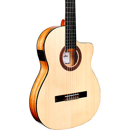 Cordoba C5-CET Thinbody Spalted Maple Nylon-String Acoustic-Electric Guitar Gloss Natural