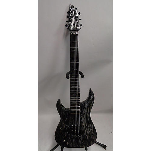 Schecter Guitar Research C7 FRS Silver Mountain Left Handed Electric Guitar Silver Mountain