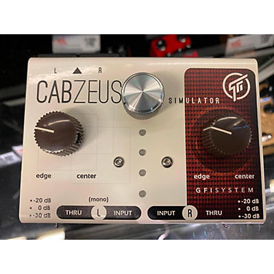 GFI Musical Products CABZEUS SPEAKER SIMULATOR Battery Powered Amp