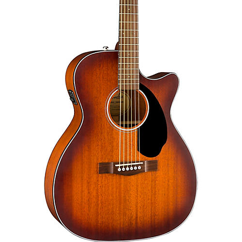 Fender CC-60SCE All-Mahogany Limited Edition Acoustic-Electric Guitar Satin Aged Cognac Burst