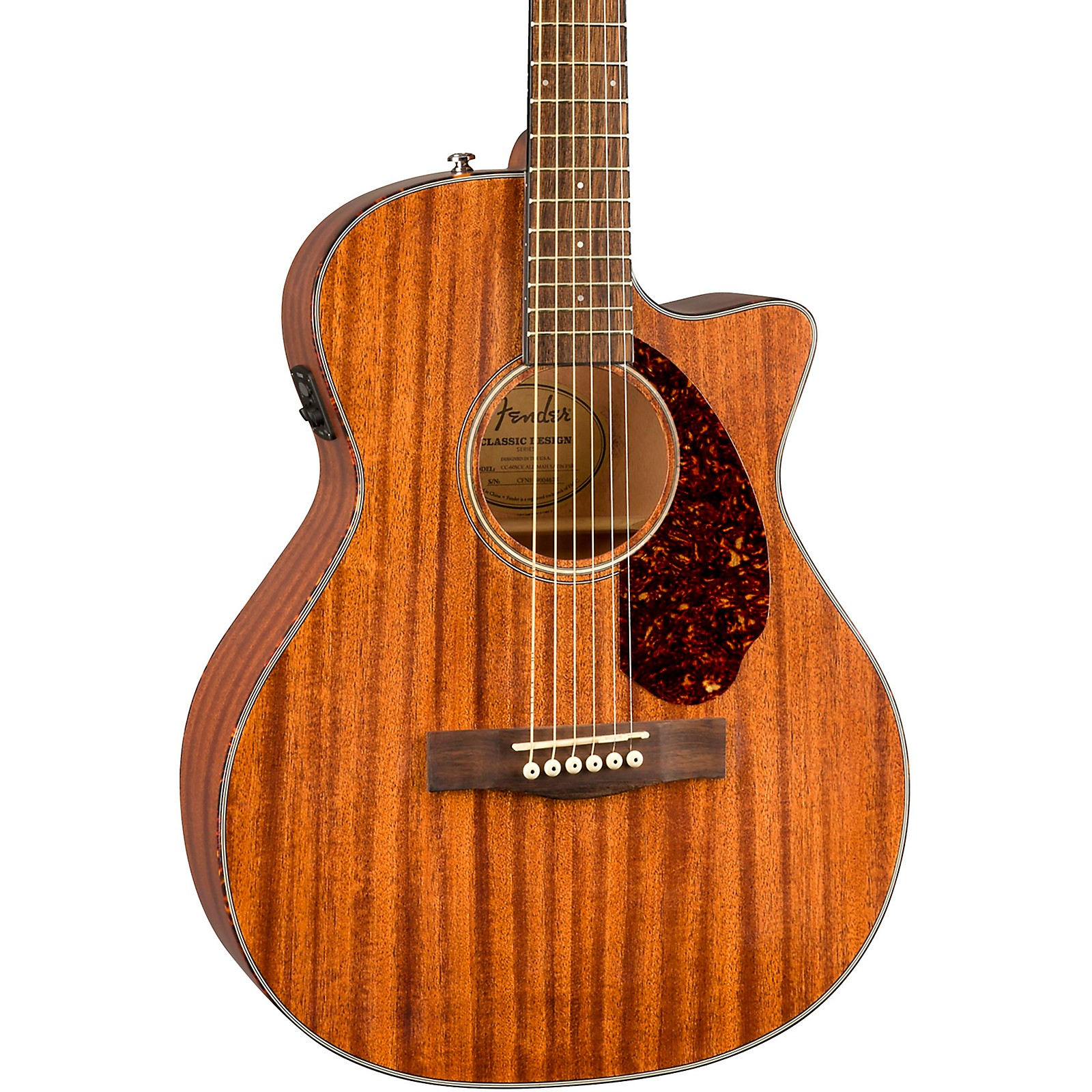 Fender CC-60SCE All-Mahogany Limited Edition Acoustic-Electric Guitar