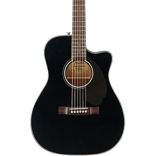 Fender CC-60SCE Concert Acoustic-Electric Guitar Black