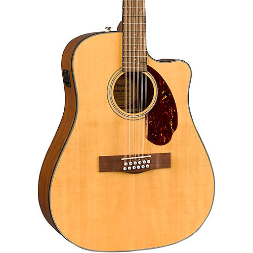 Fender CD-140SCE 12-String Dreadnought Acoustic-Electric Guitar Natural