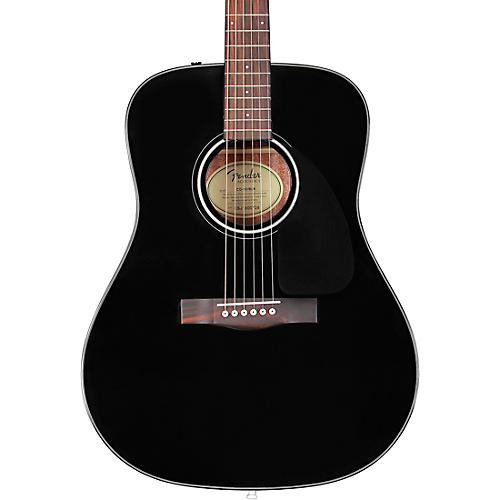 fender cd 60 dreadnought v3 acoustic guitar black musician 39 s friend. Black Bedroom Furniture Sets. Home Design Ideas