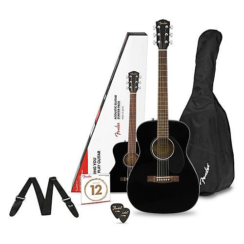 Fender CD-60S Concert Acoustic Guitar Pack Black