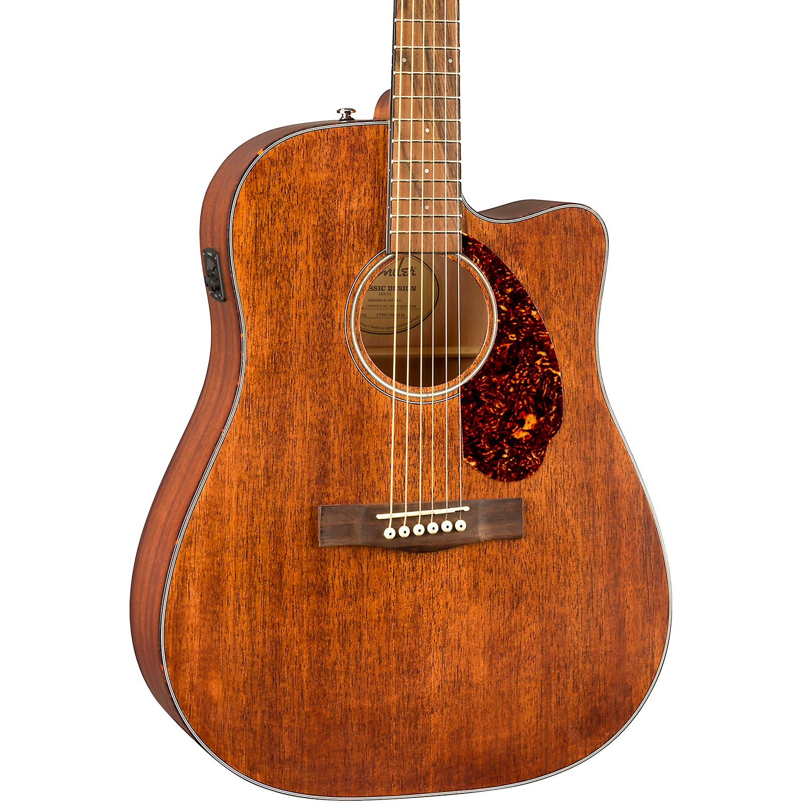 Fender CD-60SCE All-Mahogany Limited Edition Acoustic-Electric Guitar