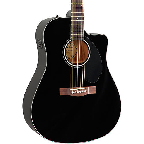 Fender CD-60SCE Dreadnought Acoustic-Electric Guitar Black