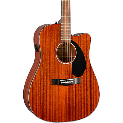 Fender CD-60SCE Dreadnought All-Mahogany Acoustic-Electric Guitar