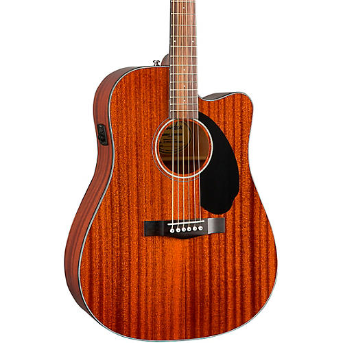 Fender CD-60SCE Dreadnought All-Mahogany Acoustic-Electric Guitar Natural