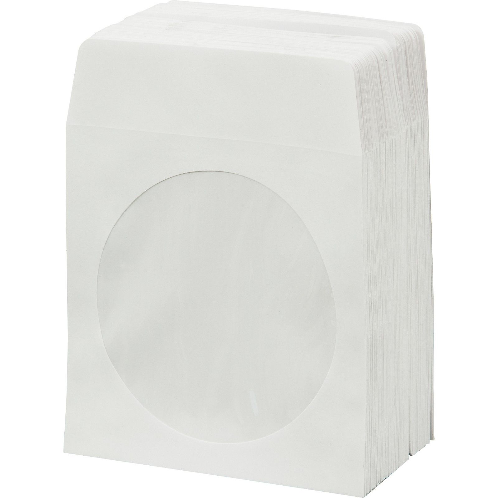 BK Media CD & DVD Paper Sleeves with Window 100-Pack