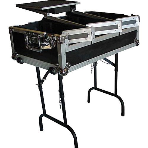 Eurolite CDJ400 Coffin Case with Laptop Shelf and Folding Table Legs
