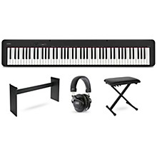 Casio CDP-S100 keyboard with CS46 stand, bench and headphones