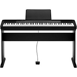 Casio CDP-135 88-Key Digital Piano with Wood Stand and Sustain Pedal (Black)