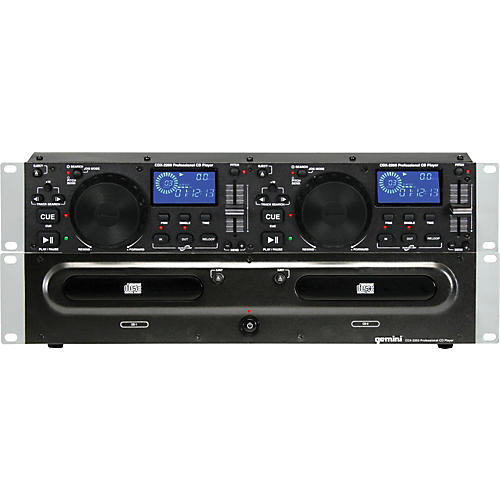 Gemini CDX-2200 2U Dual CD Player