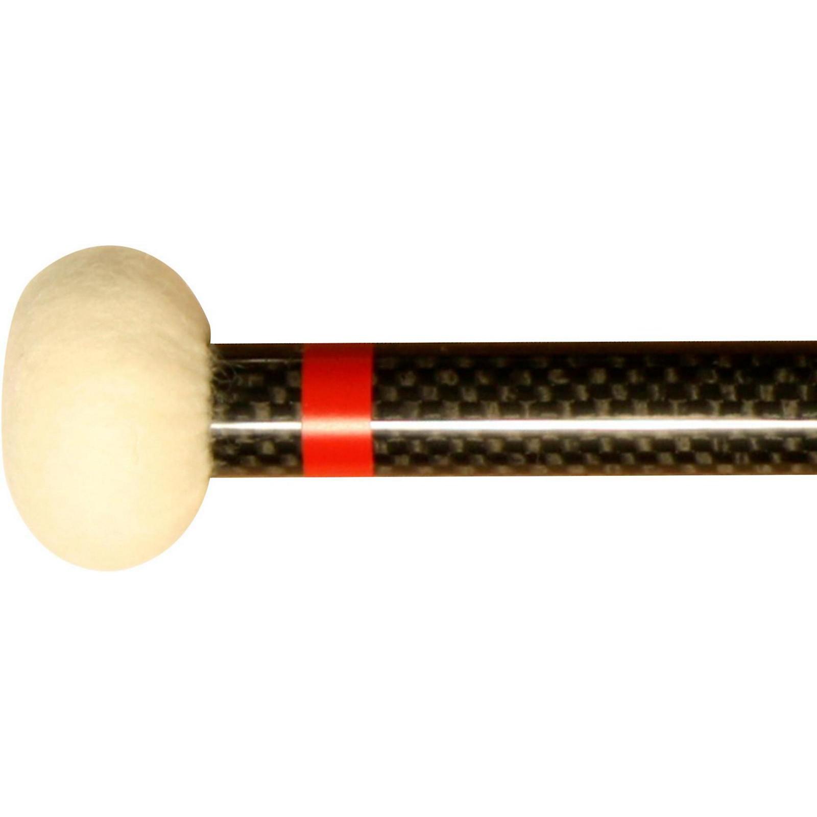 Black Swamp Percussion CF1 Carbon Fiber Timpani Mallets Hard (Red)