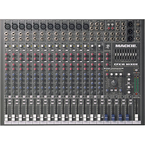Mackie cfx16 16-channel compact integrated live sound mixer | reverb.