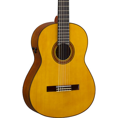 yamaha cg ta transacoustic nylon string acoustic electric guitar gloss natural musician 39 s friend. Black Bedroom Furniture Sets. Home Design Ideas