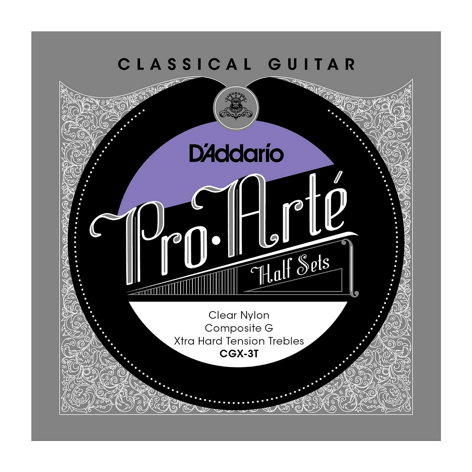 D'Addario CGX-3T Pro-Arte Extra Hard Tension G Classical Guitar Strings Half Set