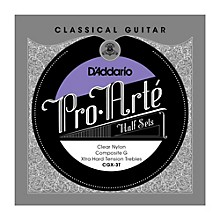 D'Addario CGX-3T Pro-Arte Extra Hard Tension G Classical Guitar Strings Half Set