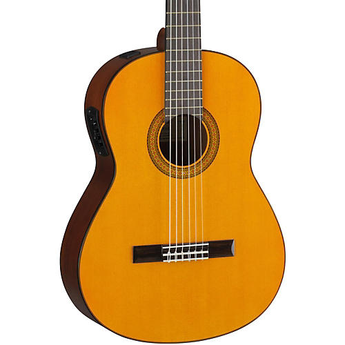 yamaha cgx102 acoustic electric classical guitar natural musician 39 s friend. Black Bedroom Furniture Sets. Home Design Ideas