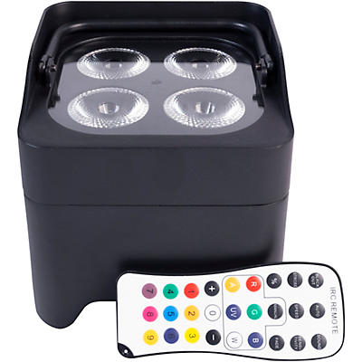 ColorKey CKW-6020B MobilePar Mini Hex 4 Wireless DMX Battery-Powered RGBAW+UV LED Lighting with Remote