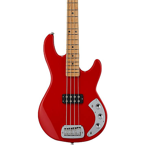 G&L CLF Research L-1000 Electric Bass Maple Fingerboard Rally Red