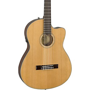 fender cn 140sce with case nylon string acoustic electric guitar musician 39 s friend. Black Bedroom Furniture Sets. Home Design Ideas