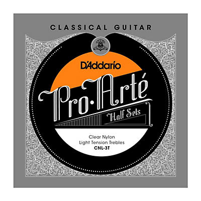 D'Addario CNL-3T Pro-Arte Light Tension Classical Guitar Strings Half Set