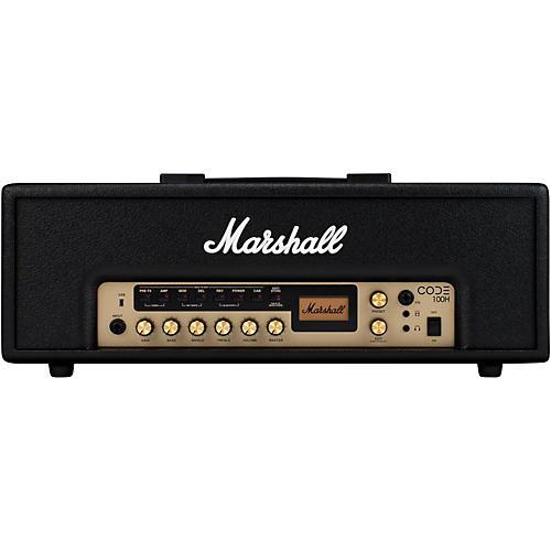 marshall code 100w guitar amp head black musician 39 s friend. Black Bedroom Furniture Sets. Home Design Ideas