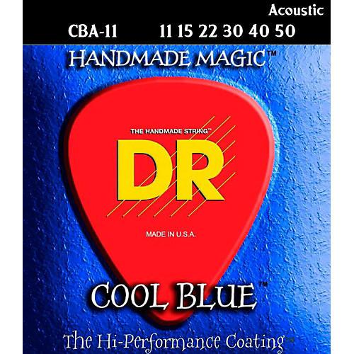 DR Strings COOL BLUE COATED ACOUSTIC STRINGS MEDIUM LIGHT (11-50)