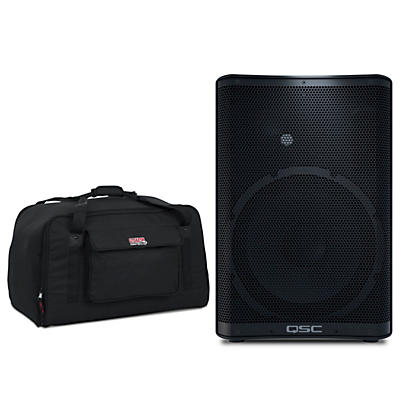 "QSC CP12 1,000W 12"" Compact Powered Speaker with Tote"