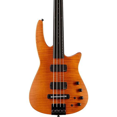 NS Design CR4 Fretless Electric Bass Guitar Satin Amber