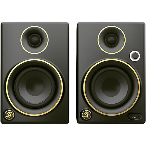 Mackie CR5BT Limited Edition Gold Trim 5 in. Multimedia Monitors with Bluetooth (Pair)