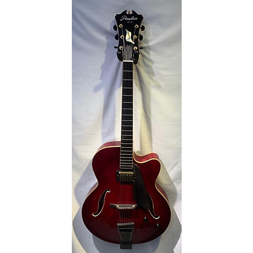 PEERLESS CREMONA Hollow Body Electric Guitar Trans Red